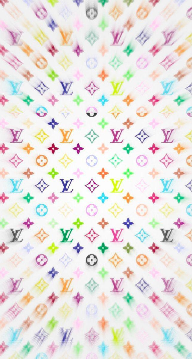 Louis Vuitton Rainbow Wave Cute Wallpaper Backgrounds Cute Wallpapers Wallpaper Backgrounds
