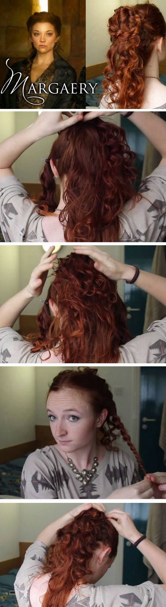 Margaery Tyrell  | 18 DIY Game of Thrones Inspired Hairstyles that will turn you into a medieval princess!