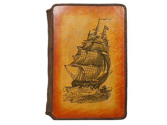 Leather Kindle Cover  Pirate Ship by joevleather on Etsy, $54.99