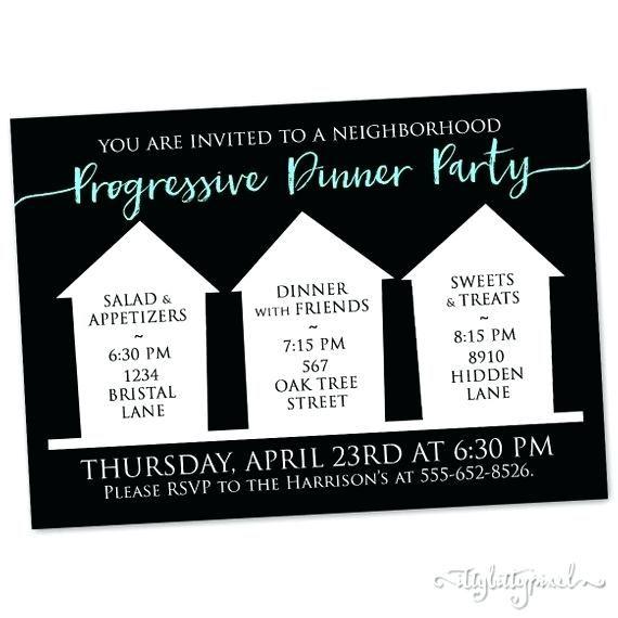 Image Result For Progressive Dinner Party Invitation Template