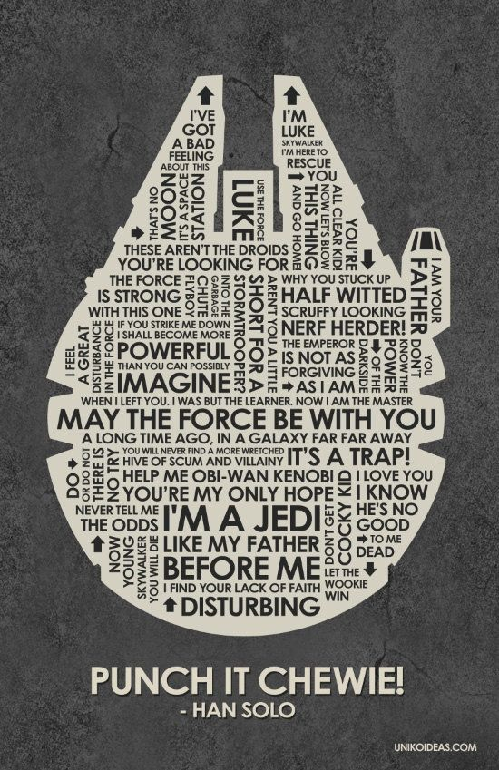 Leia & Han Empire Strikes Back Star Wars quote by mimiboo, $1.50