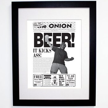 BEER! It Kicks Ass! 1994 framed poster. $35.97