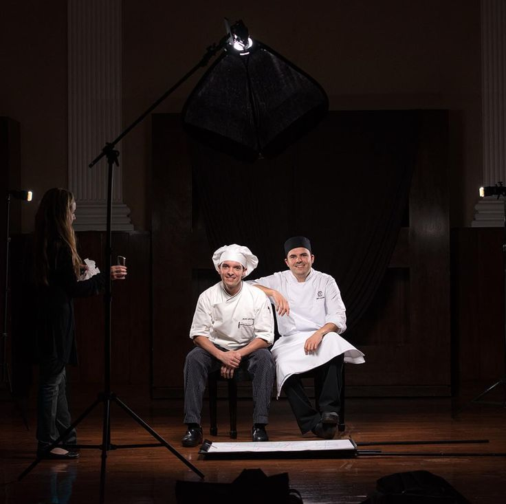Chef's editorial work, behind the scenes food photography
