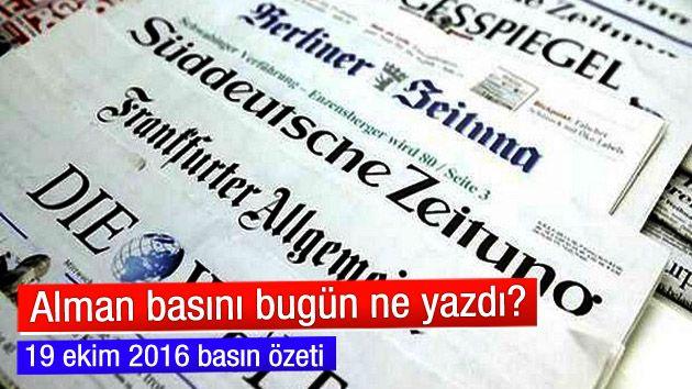 Alman basını bugün ne yazdı? (19 ekim 2016)  http://www.ilkelihaber.com/alman-basini-bugun-ne-yazdi-19-ekim-2016/