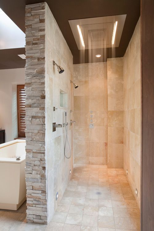 This has got to be the most awesome shower I've ever seen..one day maybe I'll have a similar idea for my home