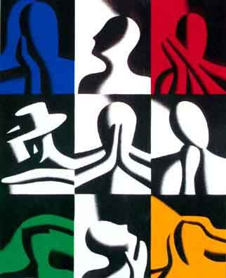 "Love this! ""Conversation Pieces"" by Mark Kostabi"