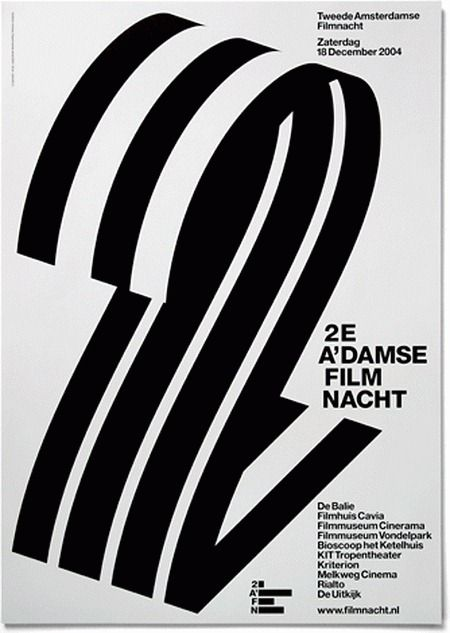 Breathtaking Typographic Posters by Experimental Jetset / Amsterdam, The Netherlands. You can't design without type.