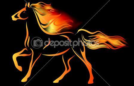 Ognisty koń — Ilustracja stockowa #20357275