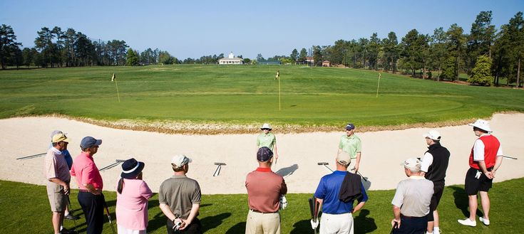 Pinehurst's week-long schools include five rounds of golf (including a round on arrival) and four days of instruction, resort accommodations and all meals. #golfinstructions