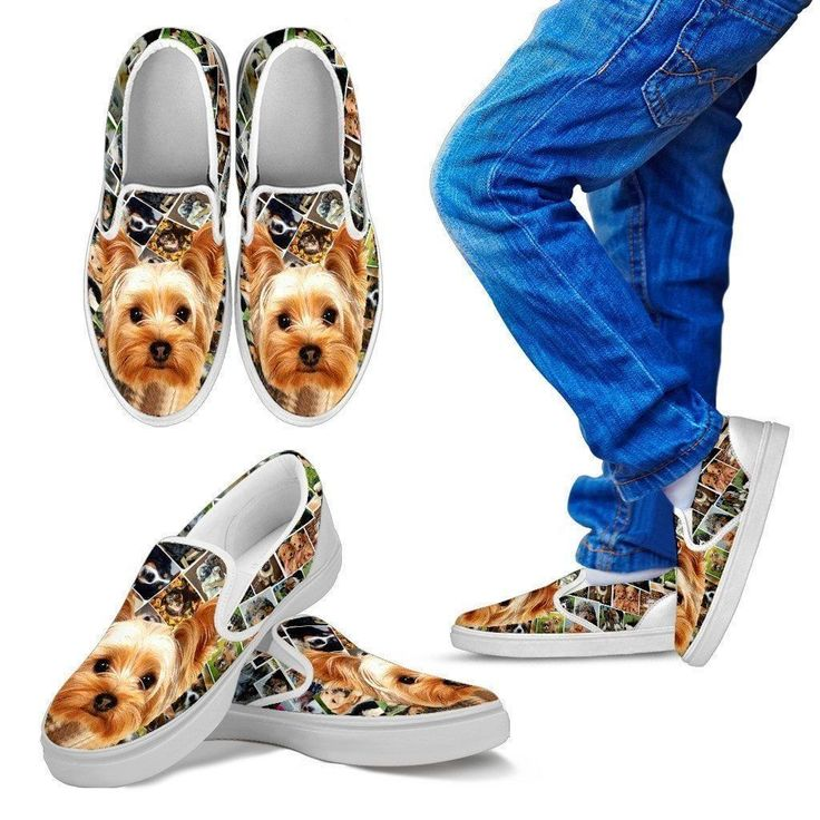 Amazing Yorkshire Terrier Print Slip Ons For Kids-Express Shipping  #YorkshireTerrier