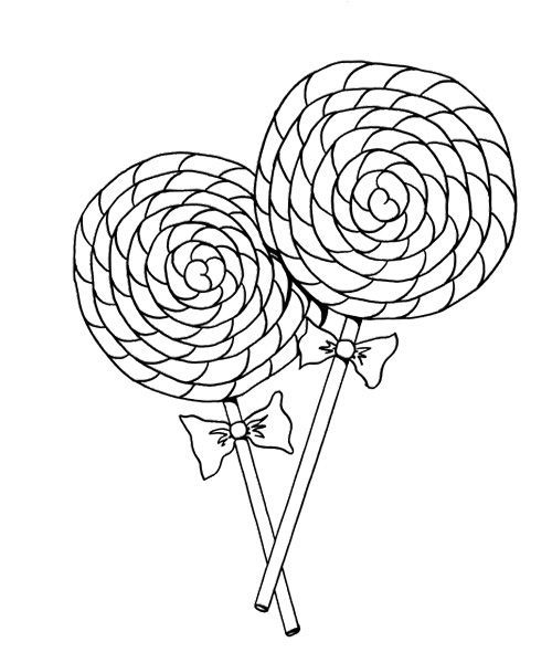 Cotton Candy Cane Coloring Page