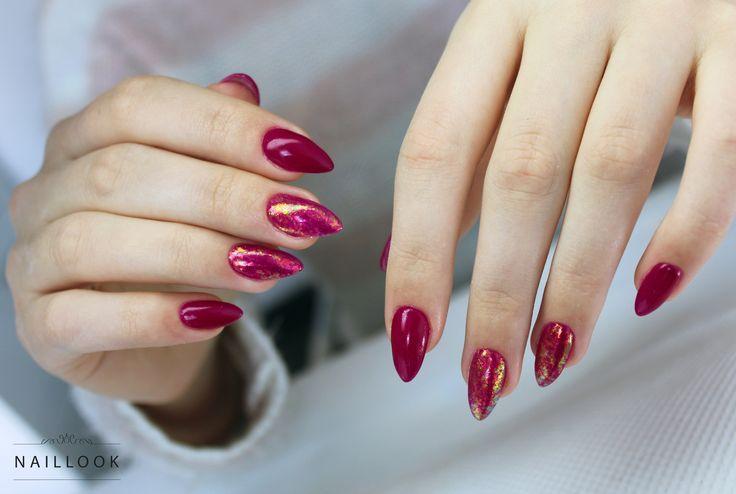 www.naillook.pl Instagram: nail_look_eliza #paznokcie #cosmoeffect #nail #nails #mani #manicure #gelnail #longnails #bordo