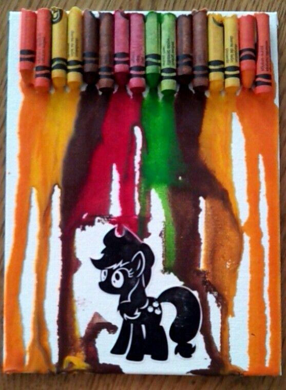 Applejack crayon art