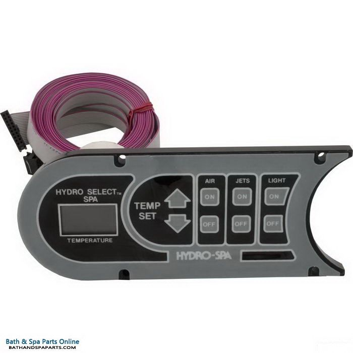 Hydro Spa Select 8-Button Topside Control Panel (341067)