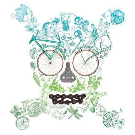 Camisetas chico o chica, sudadera o tote bag personalizadas con Bici oh! de Gustavo Solana. Vístete con Arte con T-agged.com