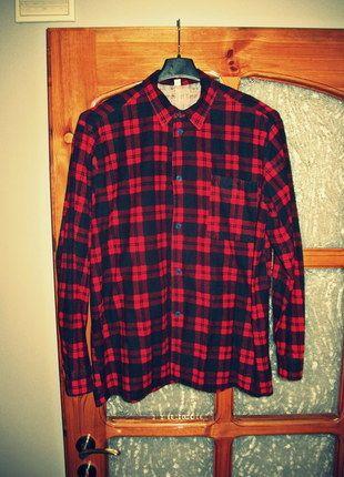 Kup mój przedmiot na #vintedpl http://www.vinted.pl/odziez-meska/koszule/10326800-koszula-meska-flanelowa-flanela-w-krate-czerwono-czarna-rozmiar-l