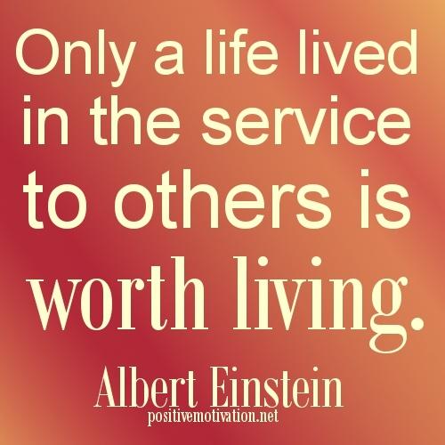 Serving others is serving God Himself