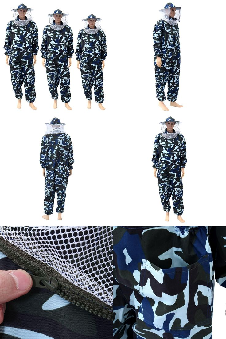 [Visit to Buy] New Pants Veil Bee Protecting Dress Camouflage Beekeeping Suit Protective Safety Clothing Beekeeper Bee Suit Smock #Advertisement