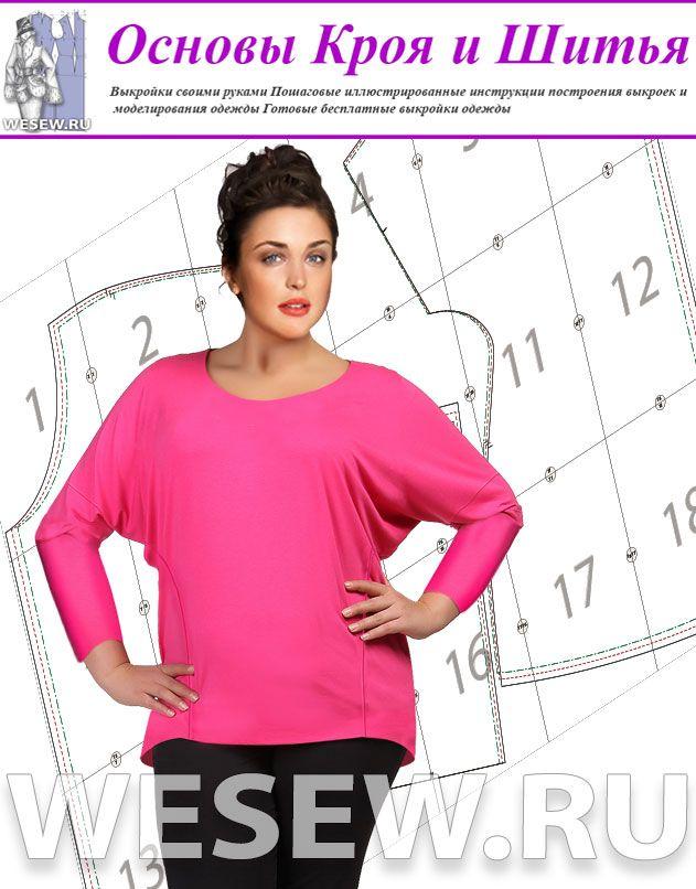 Выкройка блузки модного фасона для полных в трех размерах https://wesew.ru/page/vykrojka-bluzki-modnogo-fasona-dlja-polnyh-v-treh-razmerah