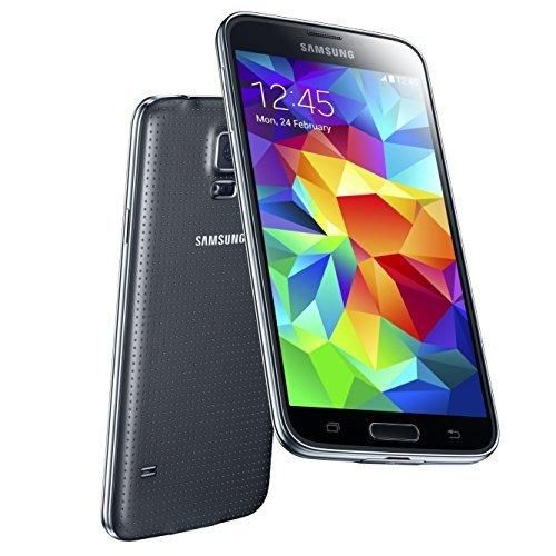 Samsung Galaxy S5 SM-G900F 16GB Factory Unlocked Cellphone International Version Retail Packaging Black