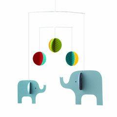 Petit Collage - Hanging Mobile - Elephant