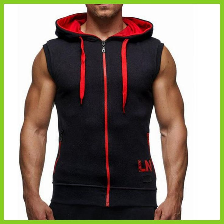 Male Bodybuilding Hoodies Fitness Clothes Hoody Cotton Hoodie Men Sweatshirts Men's Sleeveless Tank Tops Casual Vest