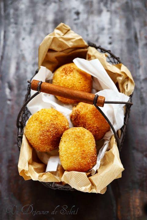 Un dejeuner de soleil: Arancini ou arancine au ragù comme en Sicile