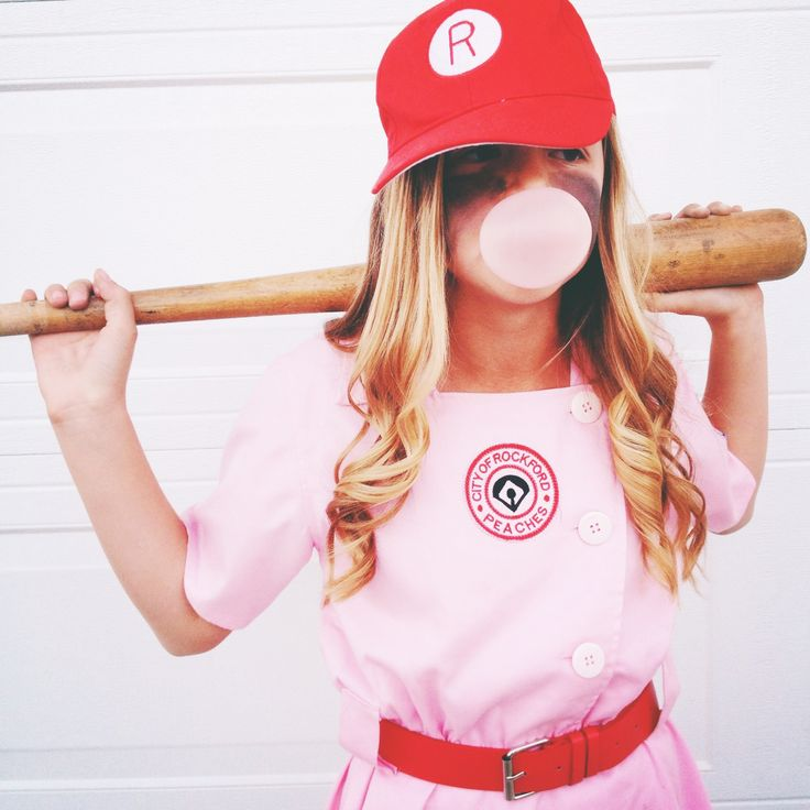 My little Peach. A league of their own Halloween costume