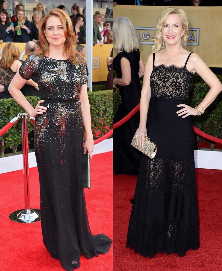 ScarletStiletto: Jenna Fischer & Angela Kinsey - 2013 Screen Actors Guild Awards