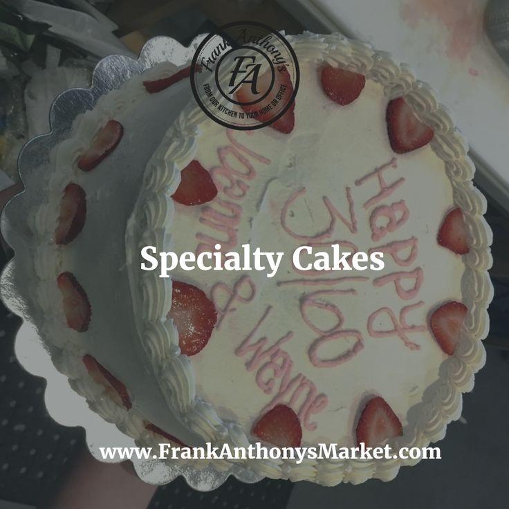 Desserts: Specialty Cakes Order Online: www.frankanthonysmarket.com  #Boston #Seaport #BostonSeaport #Fanpier #Catering #Caterer #Seaportdistrict #Breakfast #Lunch #Dinner #Italian