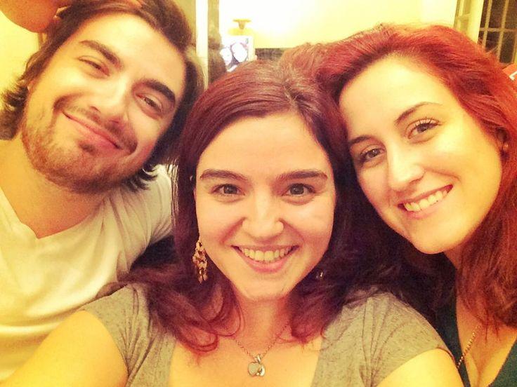 Objet rarissime, un selfie de nous trois!