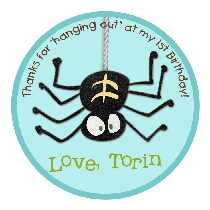 Itsy Bitsy Spider Birthday Party Favor Tag -- Digital File -- Print It Yourself -- As Many As You Need. $8.00, via Etsy.