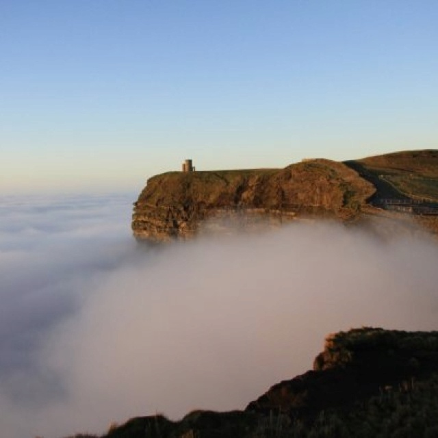 Sea of clouds in Cliffs of Moher Ireland