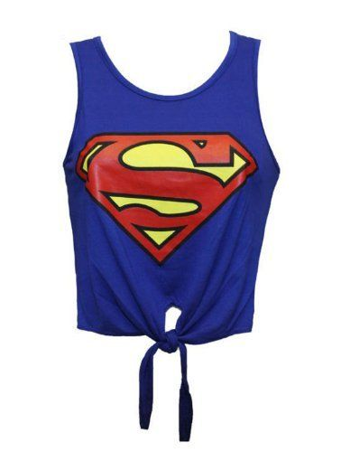 MyMixTrendz - Culture Superman Batman Femmes Top Tie Up Vest: Amazon.fr: Vêtements et accessoires