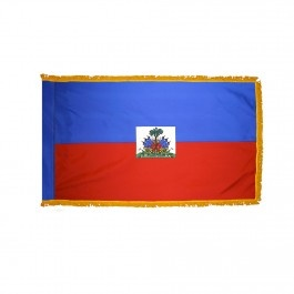 Indoor and Parade Colonial Nyl-Glo Haiti Government Flag with Fringe-Assorted Sizes http://www.pacificcoastflag.com/indoor-and-parade-colonial-nyl-glo-haiti-government-flag-with-fringe-1.html