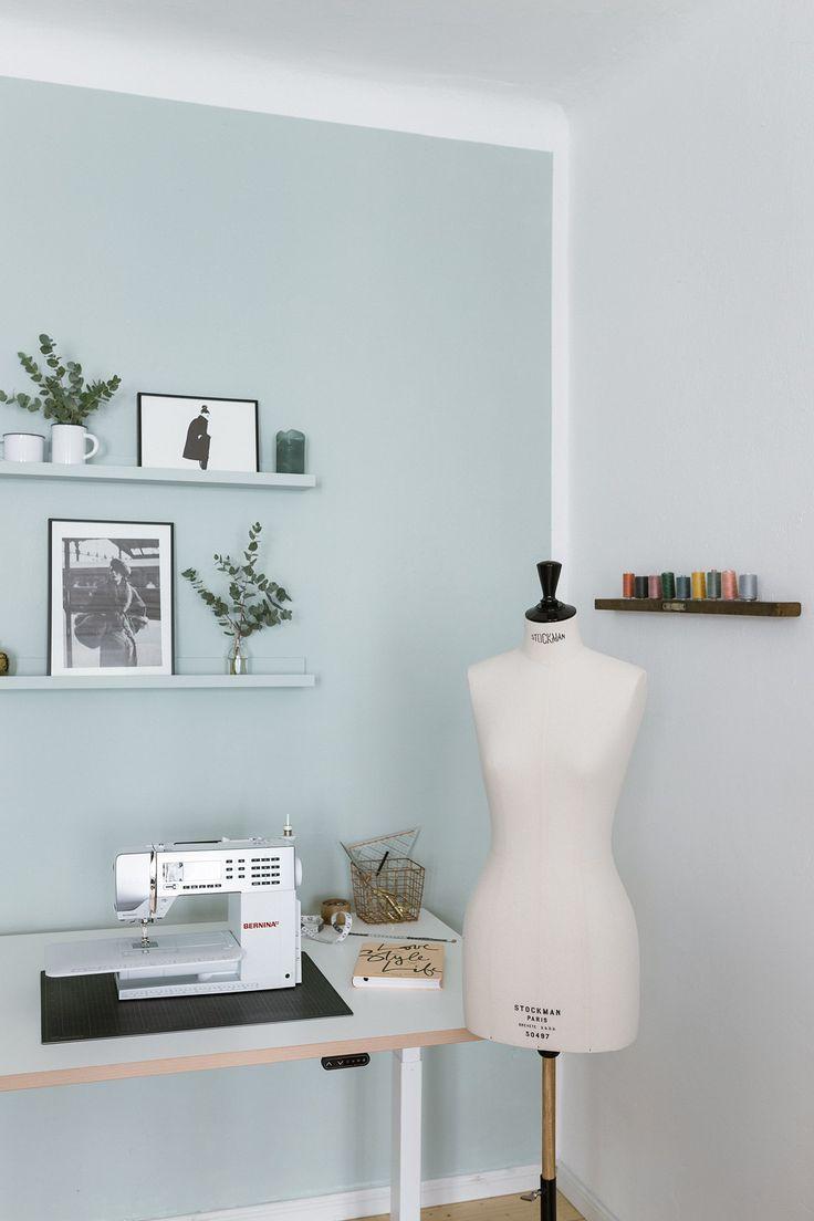 75 besten diy ideas homeoffice crafting corner bilder auf pinterest wohnungen b ro - Wandfarbe lindgrun ...