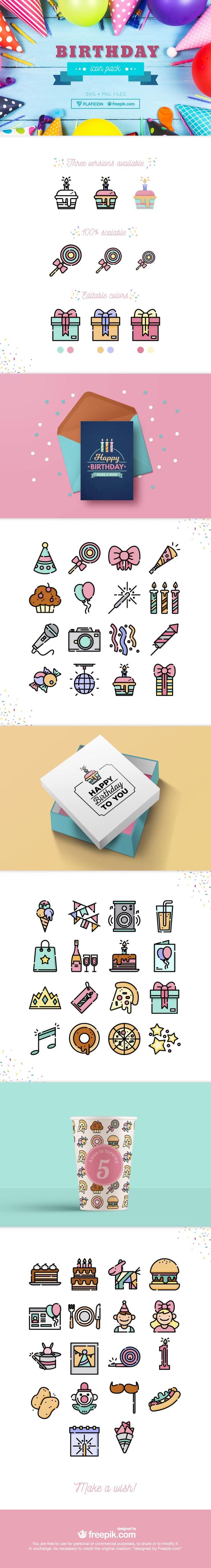 free birthday icons