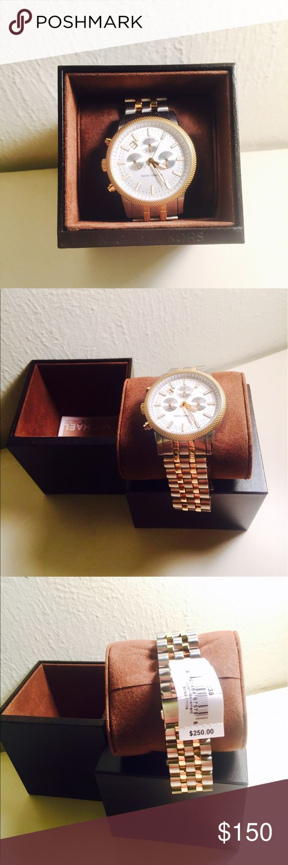 Never Used! Michael KORS Men's Watch MK8238 MICHAEL KORS- Scout Silver Dial Chronograph Two Tone Mens Watch MK8238 Never Used, With Box & Price Tag Michael Kors Accessories Watches