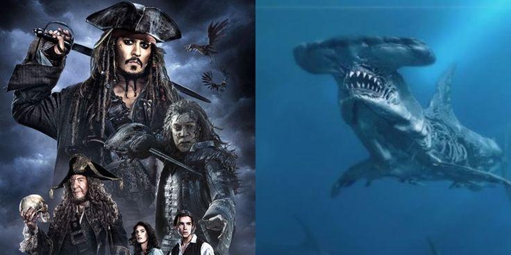 Tubarões fantasmas aparecem em nova imagem de Piratas do Caribe: A Vingança do Salazar