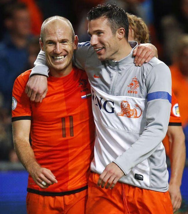 Arjen Robben en Robin van Persie. The too star players of tthe Neatherlands.