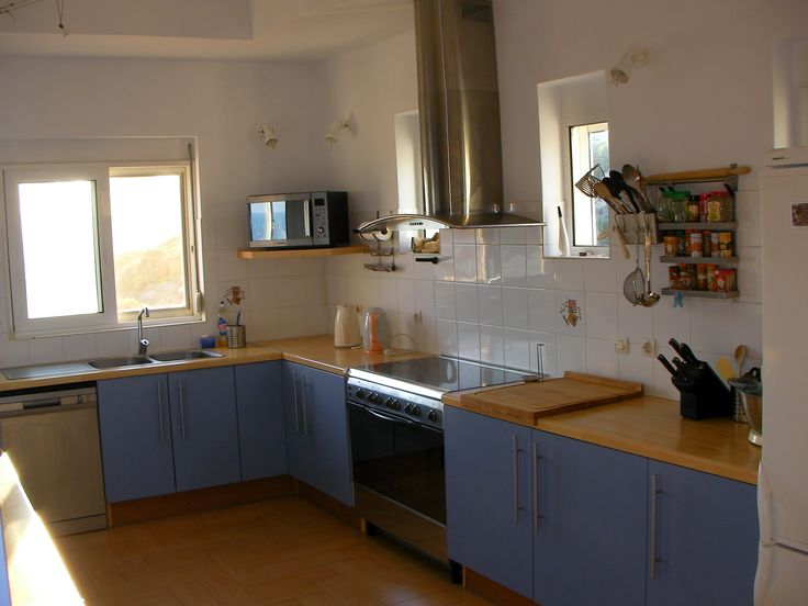 The kitchen at The Tower House, Kos
