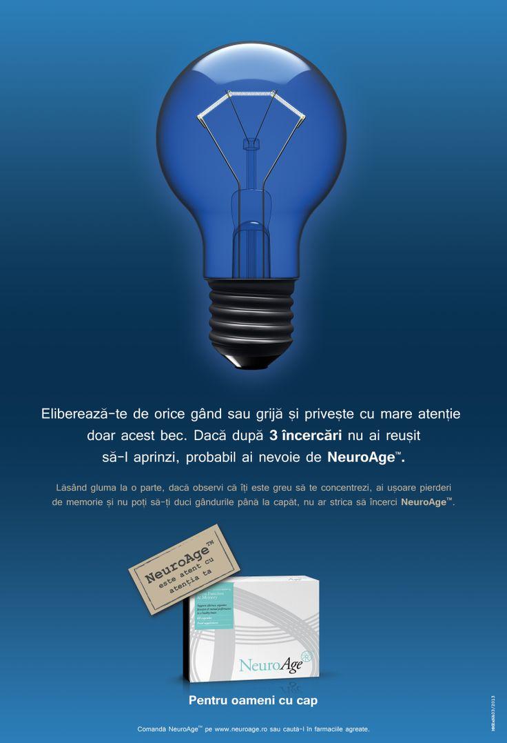 NeuroAge- Poster light bulb