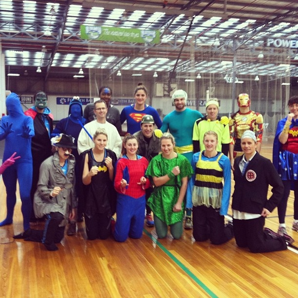 Southern Steel players having a Superhero day at training! Great fun!