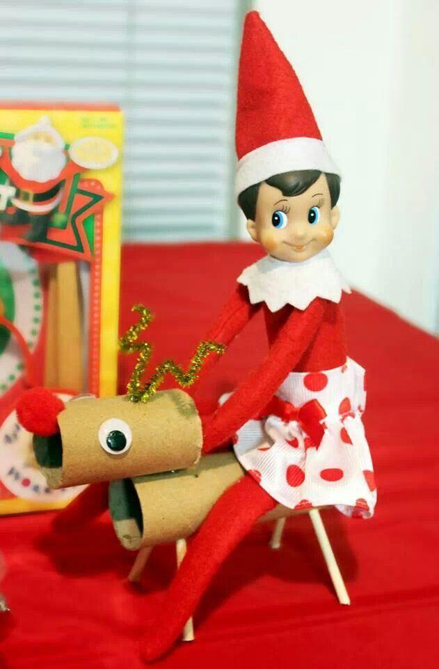 Elf on the shelf reindeer rudolph