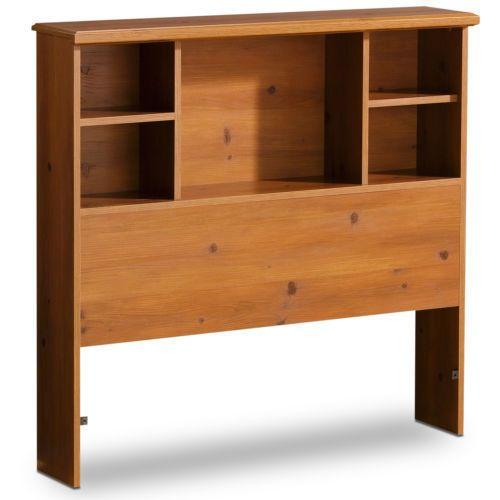 Twin Wood Wooden Headboard Kids Bookcase Book Shelf Bed