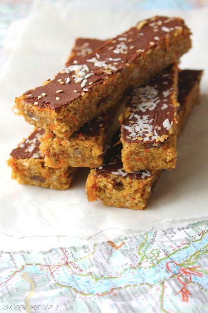 Barres sans cuisson quinoa carottes tahin amandes (modifier la recette en remplaçant le son d'avoine par 1 équivalent autorisé)