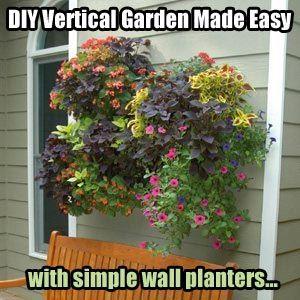 Best Vertical Garden Planters Ideas On Pinterest Pallet - Cool diy wall planter