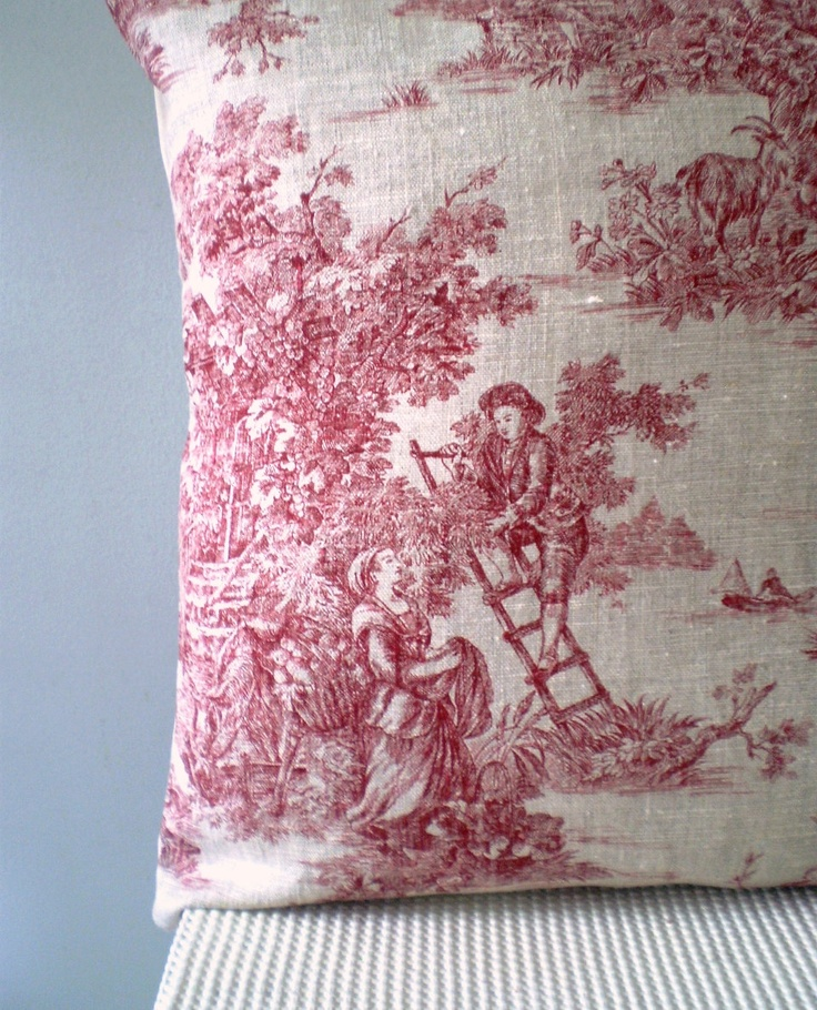 red and white toile de jouy always so fresh and appealing toile de jouy pinterest so. Black Bedroom Furniture Sets. Home Design Ideas