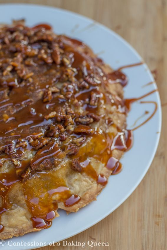 Salted Caramel Upside Down Apple Pie www.confessionsofabakingqueen.com