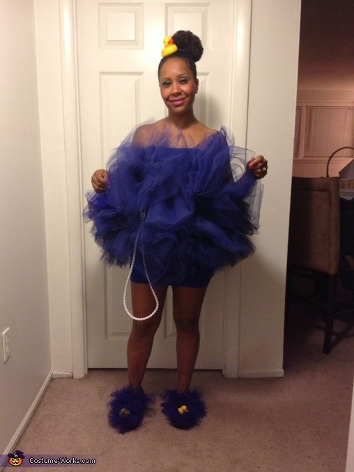 Vanya: Vanya Johnson- I needed a costume for that night and had tulle on hand. I purchased an elastic strip to attach the tulle and added rubber duckies from the dollar...